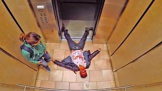 Elevator Zombie Scare PRANK