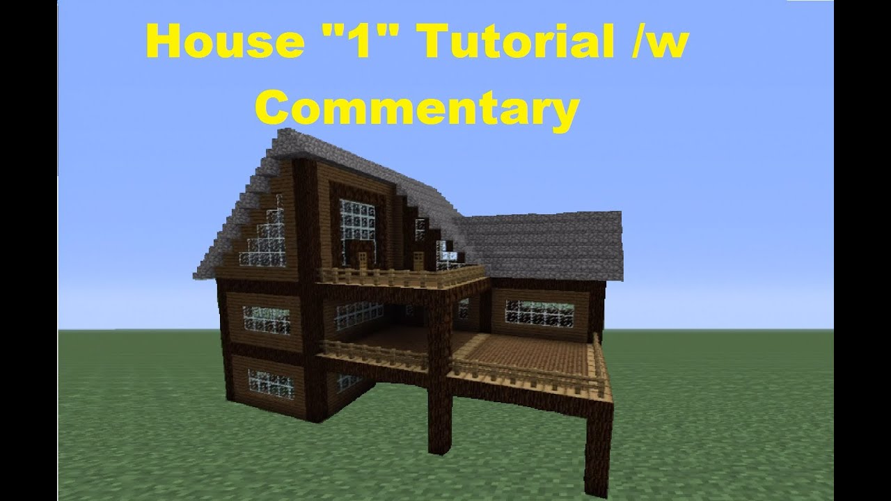 Minecraft 360 how to build a spruce wood house house 1 - How to make a wooden house ...