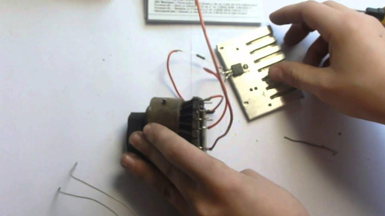 Как сделать высоковольтный генератор из строчного трансформатора