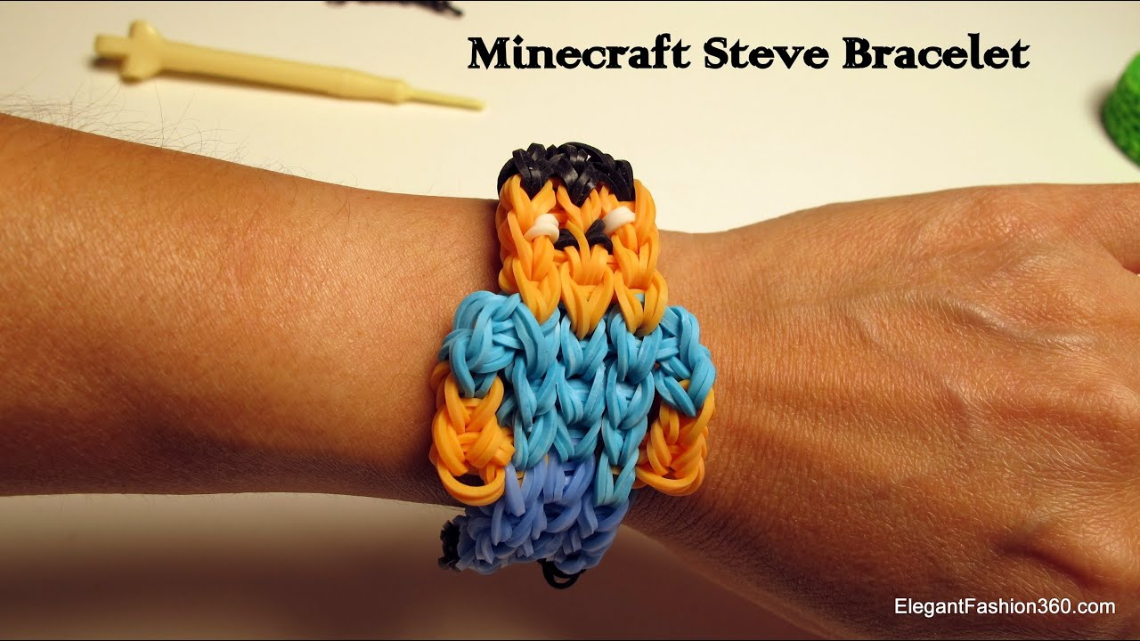 Rainbow loom minecraft bracelet