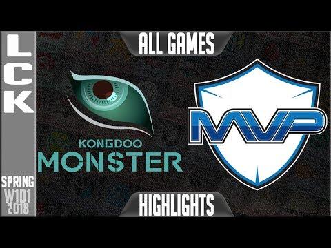 KDM vs MVP Highlights ALL GAMES | LCK Spring 2018 S8 W1D1 | Kongdoo Monster vs MVP