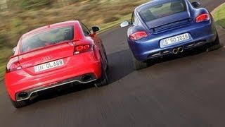Vergleichstest TT RS gegen Cayman S - Audi jagt Porsches Krokodil videos