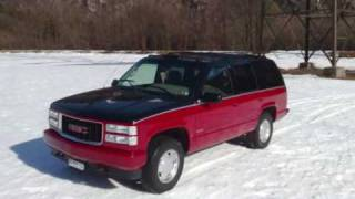 GMC Yukon-1999 2 Tone with magnaflow dual exhaust videos