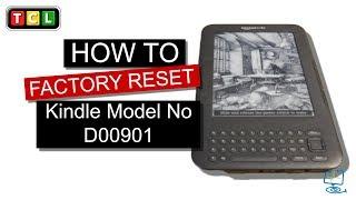 Factory Reset Kindle Model No D00901