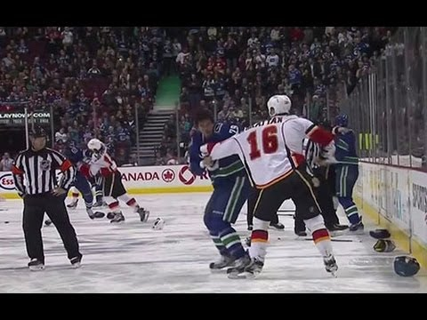 Breaking Down The Canucks-Flames Line Brawl