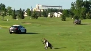 [Police Chase Truck Onto Golf Course ] Video