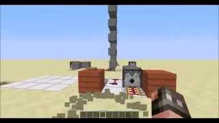 Minecraft: WORKING Car NO MODS 1.7.9 Survival Steerable