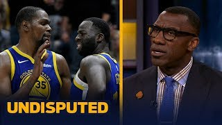 Shannon Sharpe says 'it's not a big deal' after KD and Draymond's heated exchange | NBA | UNDISPUTED