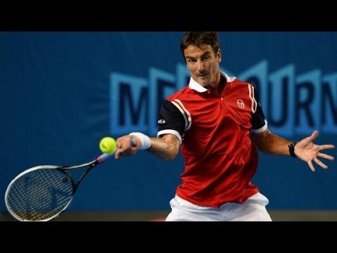 (HD) Tommy Robredo vs Richard Gasquet Australian Open 2014 R3 - HIGHLIGHTS