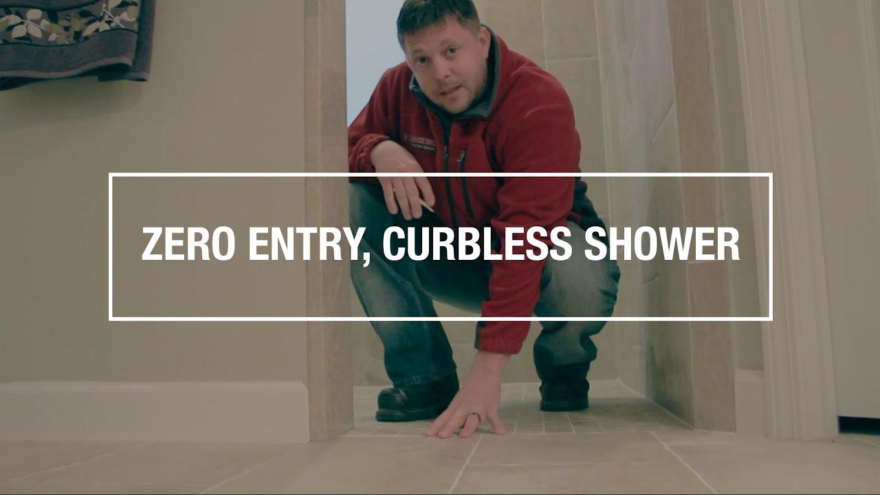 Zero Entry Curbless Shower Bathroom Remodel Destin Fl