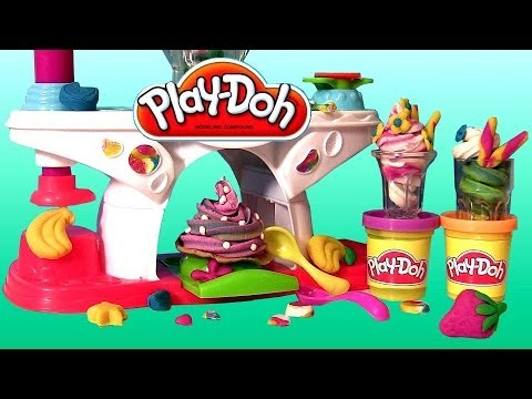 Play Doh Swirling Shake Shoppe Make Play Dough Shakes Smoothies and Swirl Ice Cream Desserts
