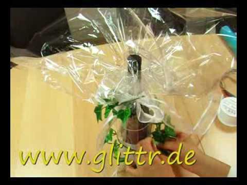 geschenke verpacken flasche beispiel 2 youtube. Black Bedroom Furniture Sets. Home Design Ideas