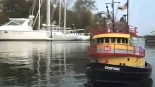"R/C Tug Boat with Kitchen Rudder - ""Choptank"""