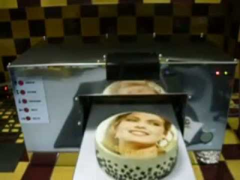 Printer For Cake Images : Cake printer, prints direct on the cream - YouTube