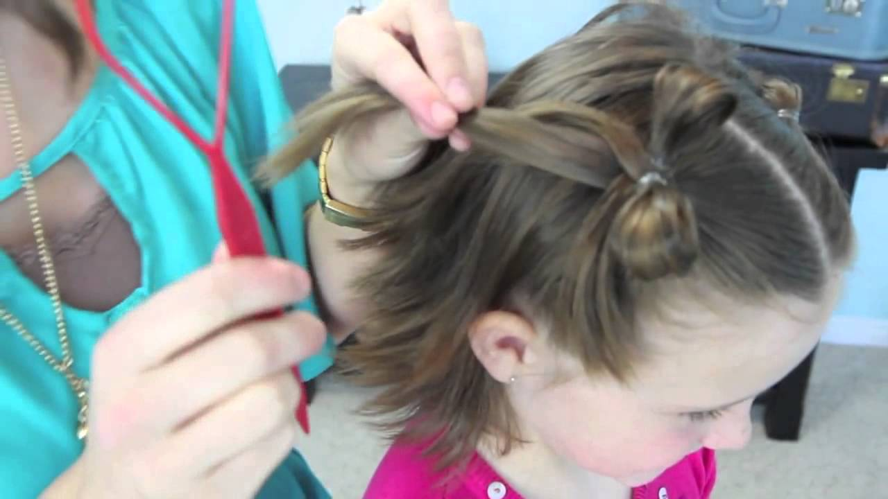 Bow Tails Short Hairstyles Cute Girls Hairstyles