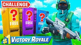 WINNING using *ONLY* VENDING MACHINES Challenge in Fortnite!