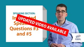 Inside the TOEFL® Test: Speaking Questions 3&5