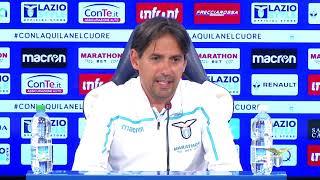La conferenza stampa di mister Inzaghi alla vigilia di Lazio-Udinese