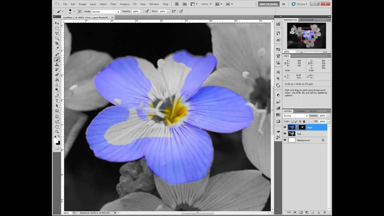 how to add a color in photoshop