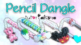 NEW Pen / Pencil Dangle Topper Rainbow Loom Charm Tutorial