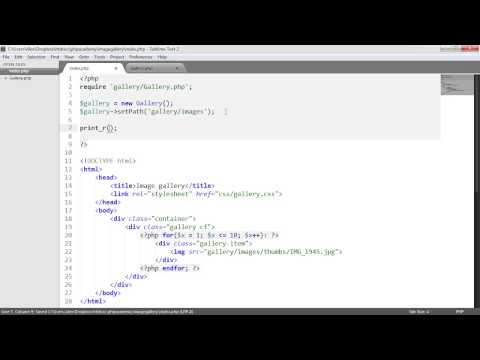 PHP File Based Image Gallery: Gallery Class (2/3) - YouTube