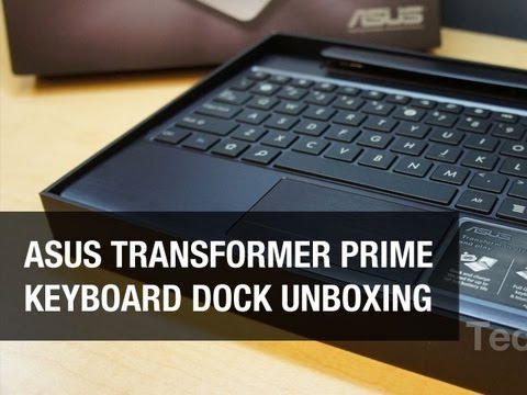 Transformer Prime Keyboard Dock Unboxing