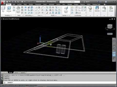 AutoCAD 3D Basics Tutorial 3 - UCS Control - Exercise 1