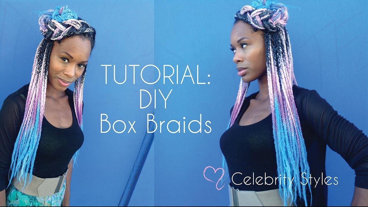 TUTORIAL: Sexy Box Braids-- How to Install Box Braids PART 1 - YouTube