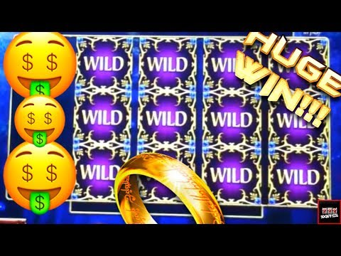 Lord of the Rings Slot Machine Bonus - Galadriel's Stairway - Big Win!