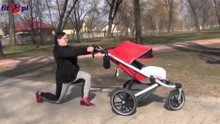 Ćwiczenia z wózkiem dla mam