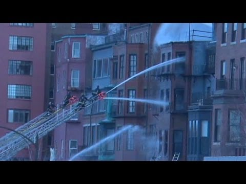 9-alarm fire in Boston neighborhood
