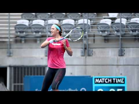 Victoria Azarenka practice: Apia International Sydney 2012