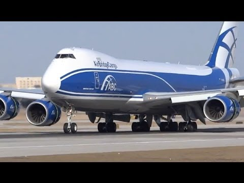 ABC - AirBridgeCargo Boeing 747-8 Landing & Taxi - Chicago O'Hare International Airport