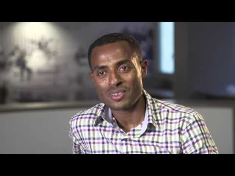 Kenenisa Bekele prepares for the Bupa Great Manchester Run