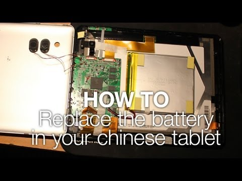 Quick tip: How to replace the battery in your chinese tablet (Eken A90)