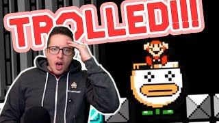 This TROLL Level Has Some Of The Most INSANE GLITCHES I've Seen In Mario Maker!!