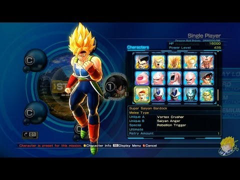 Dragon Ball Z: Battle of Z - | All Character Models In Select Screen |【FULL HD】