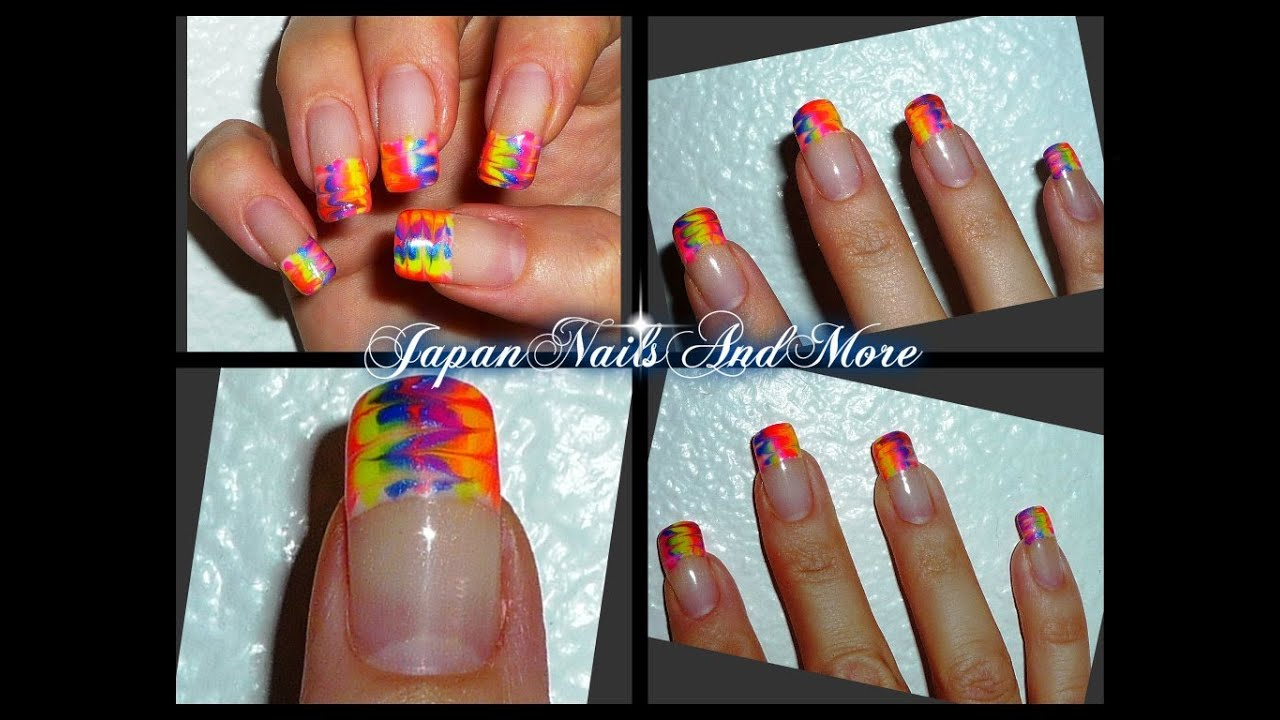 Rainbow Gel Nail Art Design - YouTube