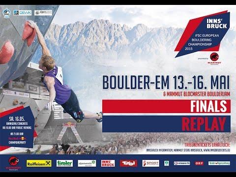 Wir sind Boulder-Europameister 2015! Innsbruck IFSC Bouldering Finals - Video