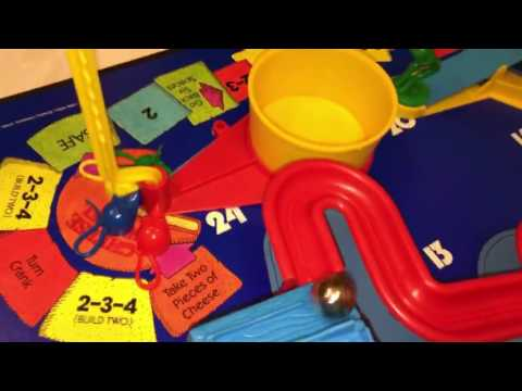 1986 Mouse Trap game - closeup and slow motion - in action