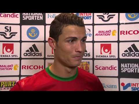 Cristiano Ronaldo Interview After Qualifying Against Sweden HD 720p - 19/11/2013