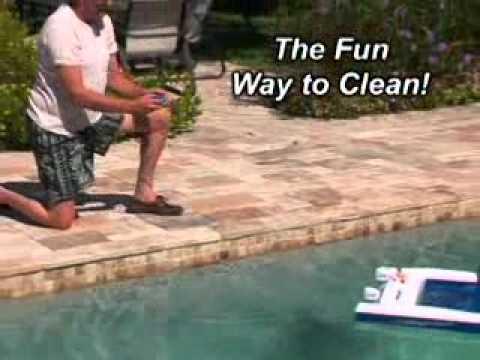 Jet Net Rc Boat Skimmer Youtube