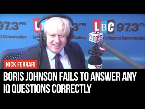 Boris Johnson Fails To Answer Any IQ Questions Correctly