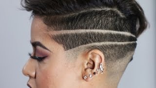 Women Get Badass Shaved Head Designs