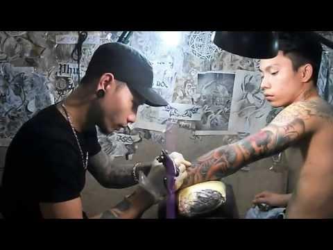 Hình xăm full rồng và cá chép - xăm hình đẹp tại tuấn body tattoo Huế