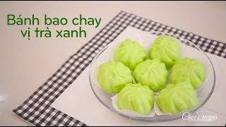 Bánh bao chay vị trà xanh - How to make steamed matcha buns (recipe) | Món ngon dễ làm | Ngon Plus