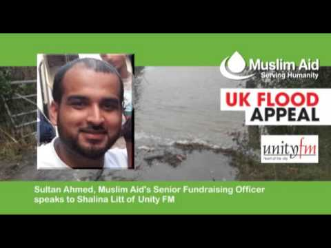 Muslim Aid - UK Floods Response, Unity FM, 21 Feb 2014