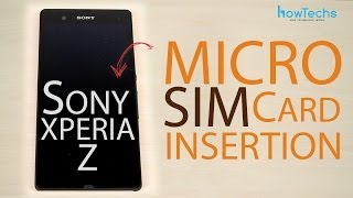 Sony Xperia Z Micro SIM Card Insertion