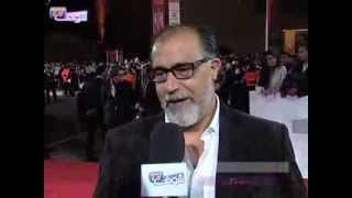 البسطاوي يسلم محمد خيي نجمة تكريمه بالمهرجان الدولي للفيلم   خارج البلاطو
