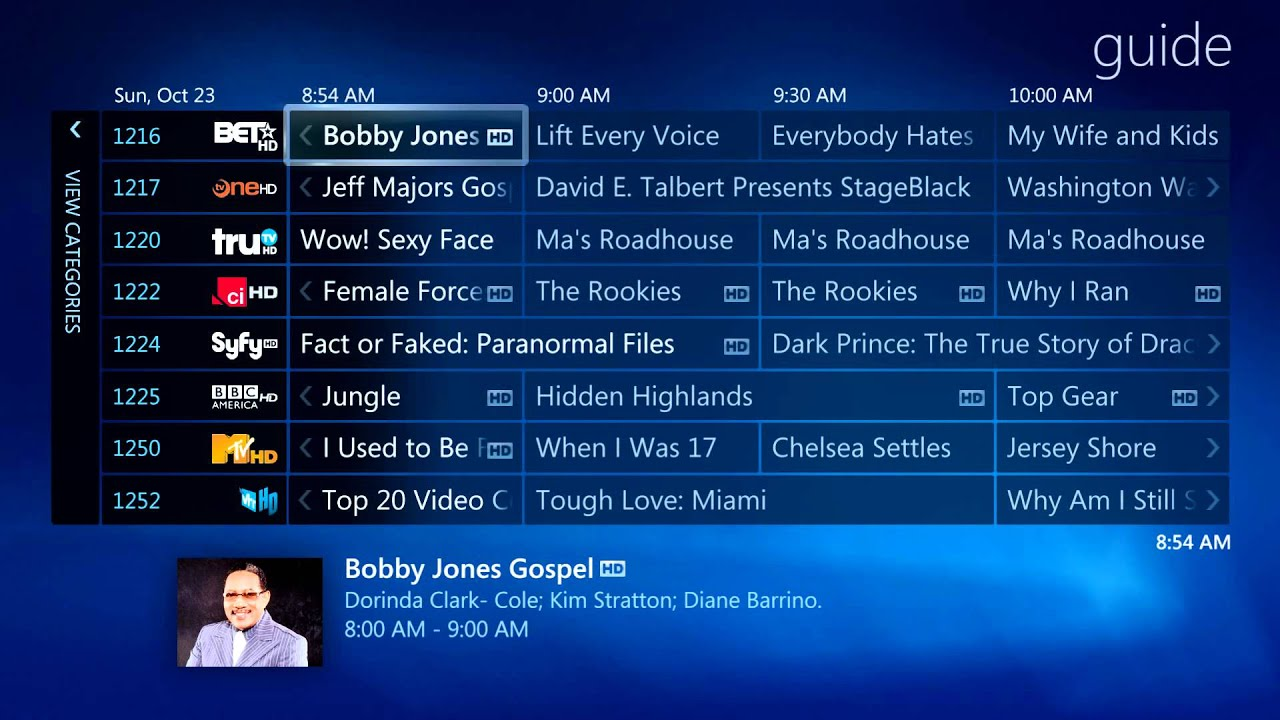 cable tv guide time warner